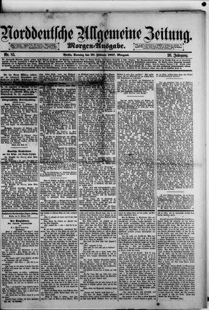 Norddeutsche allgemeine Zeitung vom 20.02.1887