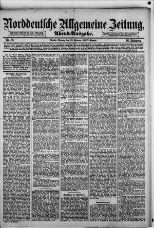 Norddeutsche allgemeine Zeitung vom 21.02.1887