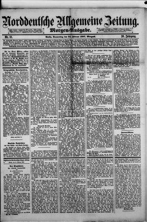 Norddeutsche allgemeine Zeitung on Feb 24, 1887