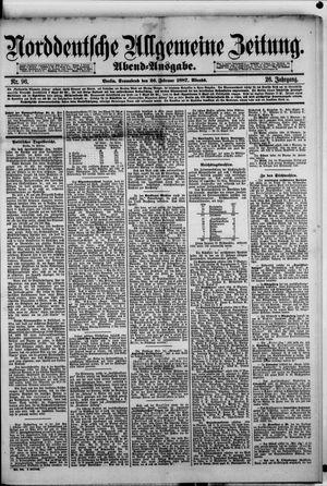 Norddeutsche allgemeine Zeitung vom 26.02.1887