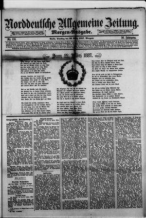 Norddeutsche allgemeine Zeitung vom 22.03.1887