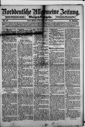 Norddeutsche allgemeine Zeitung vom 23.03.1887