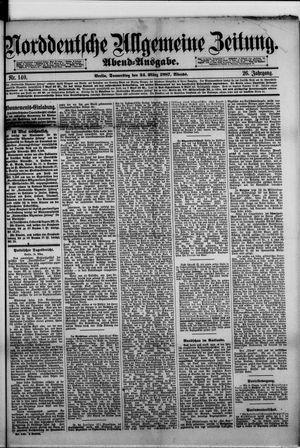 Norddeutsche allgemeine Zeitung vom 24.03.1887