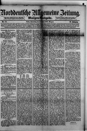 Norddeutsche allgemeine Zeitung on Apr 14, 1887