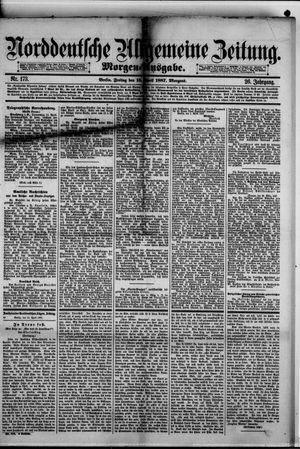 Norddeutsche allgemeine Zeitung vom 15.04.1887