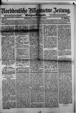 Norddeutsche allgemeine Zeitung vom 17.04.1887