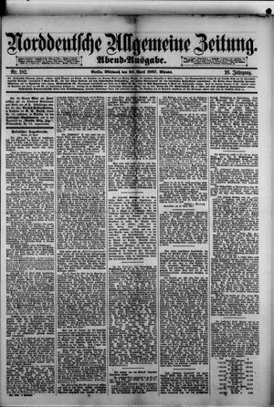 Norddeutsche allgemeine Zeitung vom 20.04.1887