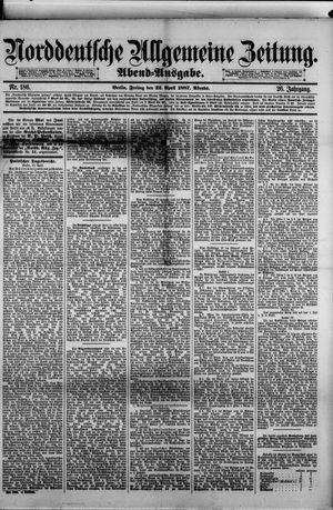 Norddeutsche allgemeine Zeitung vom 22.04.1887