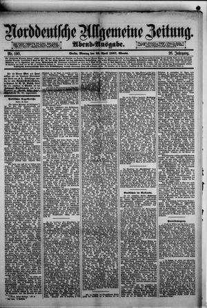 Norddeutsche allgemeine Zeitung vom 25.04.1887