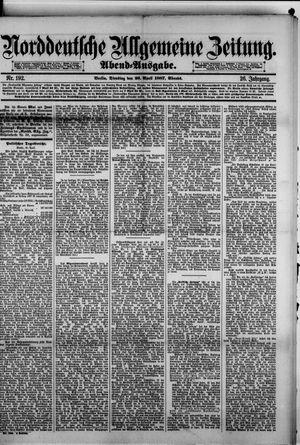 Norddeutsche allgemeine Zeitung vom 26.04.1887