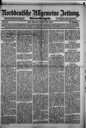 Norddeutsche allgemeine Zeitung vom 27.04.1887