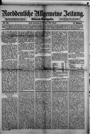 Norddeutsche allgemeine Zeitung vom 28.04.1887