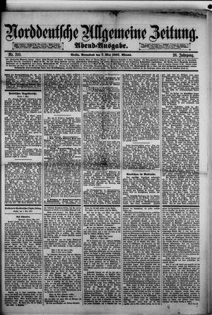 Norddeutsche allgemeine Zeitung vom 07.05.1887