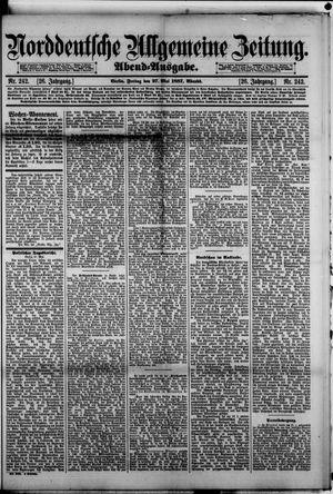 Norddeutsche allgemeine Zeitung vom 27.05.1887