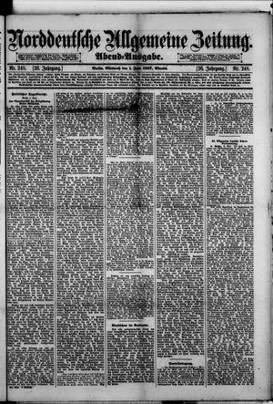 Norddeutsche allgemeine Zeitung vom 01.06.1887