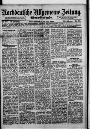 Norddeutsche allgemeine Zeitung vom 20.06.1887