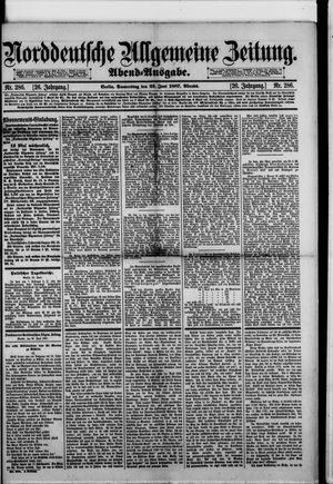 Norddeutsche allgemeine Zeitung vom 23.06.1887