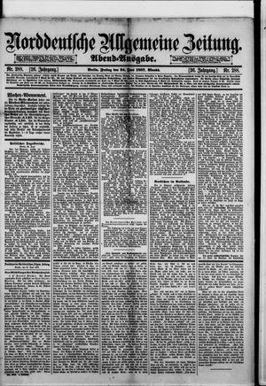 Norddeutsche allgemeine Zeitung vom 24.06.1887