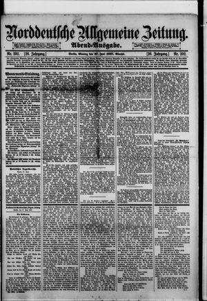 Norddeutsche allgemeine Zeitung vom 27.06.1887