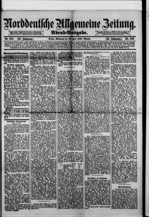 Norddeutsche allgemeine Zeitung vom 29.06.1887