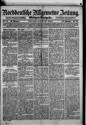 Norddeutsche allgemeine Zeitung vom 10.07.1887