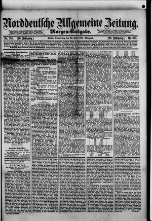 Norddeutsche allgemeine Zeitung vom 21.07.1887