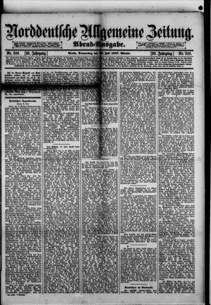 Norddeutsche allgemeine Zeitung vom 28.07.1887