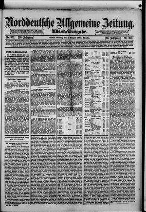 Norddeutsche allgemeine Zeitung vom 01.08.1887