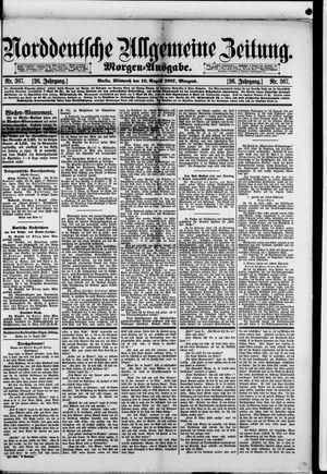 Norddeutsche allgemeine Zeitung vom 10.08.1887