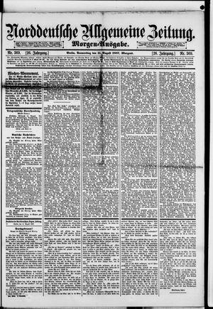Norddeutsche allgemeine Zeitung vom 11.08.1887