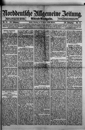 Norddeutsche allgemeine Zeitung vom 08.01.1889