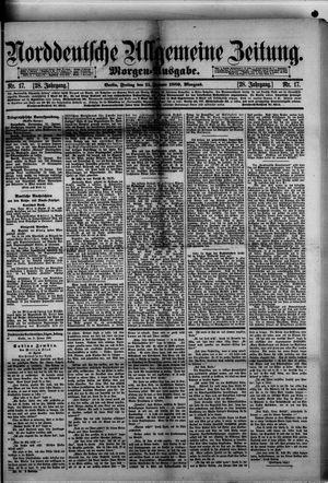 Norddeutsche allgemeine Zeitung vom 11.01.1889