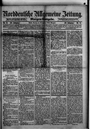 Norddeutsche allgemeine Zeitung vom 13.01.1889