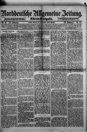 Norddeutsche allgemeine Zeitung on Jan 14, 1889