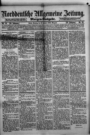 Norddeutsche allgemeine Zeitung vom 15.01.1889