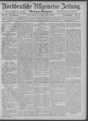 Norddeutsche allgemeine Zeitung on Jan 20, 1889