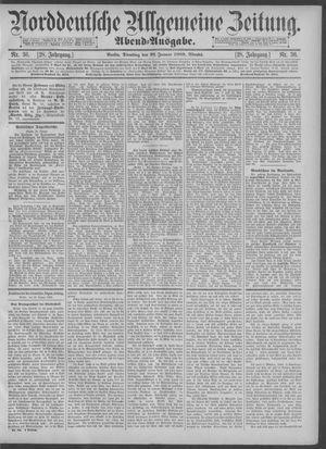 Norddeutsche allgemeine Zeitung vom 22.01.1889