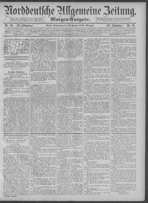 Norddeutsche allgemeine Zeitung vom 24.01.1889