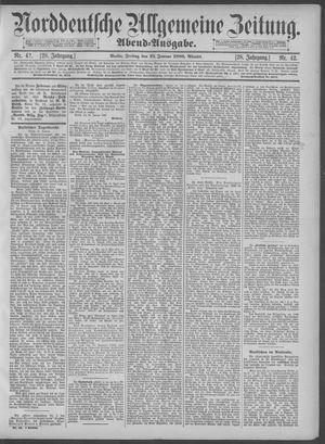 Norddeutsche allgemeine Zeitung vom 25.01.1889
