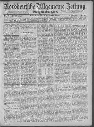 Norddeutsche allgemeine Zeitung vom 26.01.1889