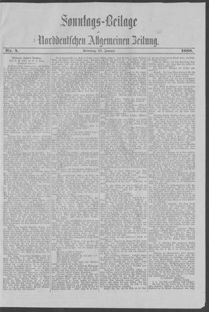 Norddeutsche allgemeine Zeitung vom 28.01.1889