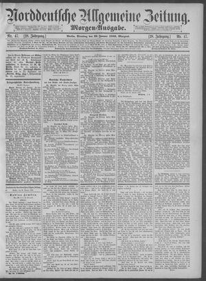 Norddeutsche allgemeine Zeitung vom 29.01.1889