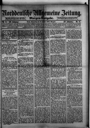 Norddeutsche allgemeine Zeitung on Jan 31, 1889