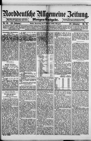 Norddeutsche allgemeine Zeitung vom 07.02.1889