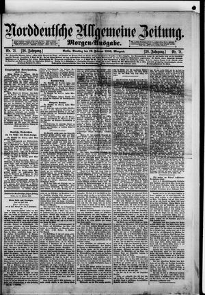Norddeutsche allgemeine Zeitung vom 12.02.1889