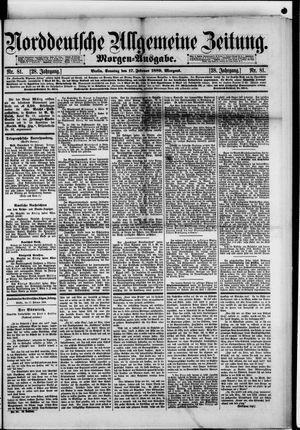 Norddeutsche allgemeine Zeitung vom 17.02.1889