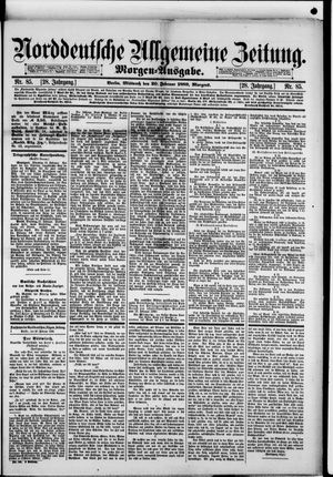 Norddeutsche allgemeine Zeitung vom 20.02.1889