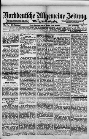 Norddeutsche allgemeine Zeitung vom 21.02.1889