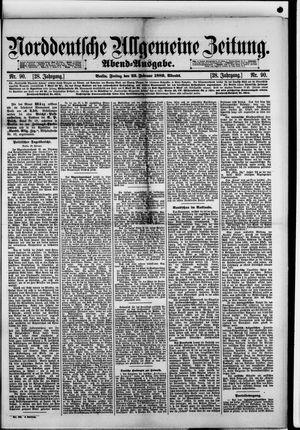 Norddeutsche allgemeine Zeitung vom 22.02.1889