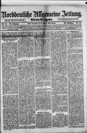 Norddeutsche allgemeine Zeitung on Feb 23, 1889